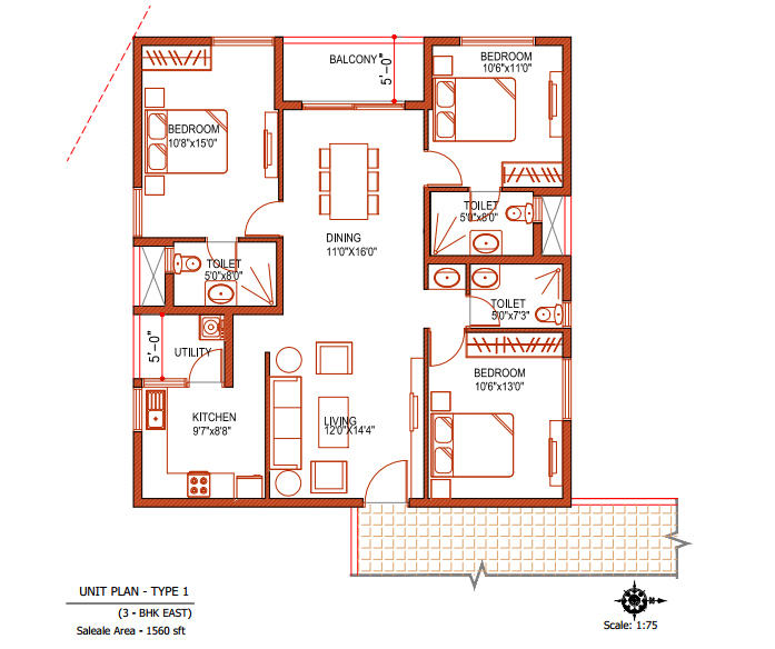 3 Bedroom House Plans For North Facing Home Ideas Decor. Double Bedroom Individual House Plans   Home Plans Ideas